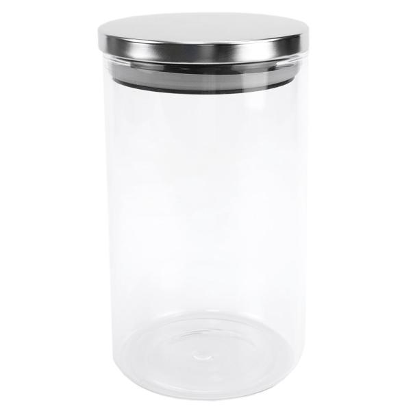 Enjoyable Home Basics Borosilicate 34 Oz Glass Canister With Best Image Libraries Thycampuscom