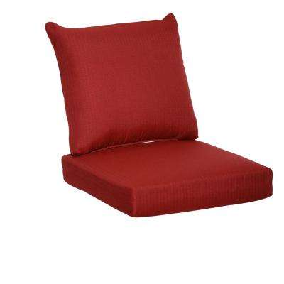 Chili Texture 2-Piece Deep Seating Outdoor Lounge Chair Cushion