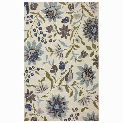 Woodbridge Clarita Blue 5 ft. x 8 ft. Indoor Area Rug