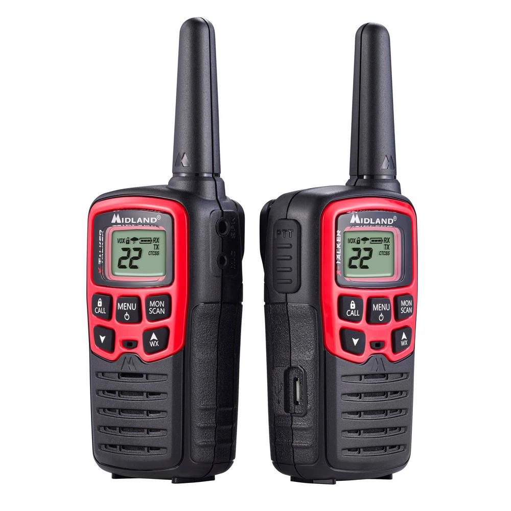 Midland X Talker 26 Mile 2 Way Radios With Usb Charger