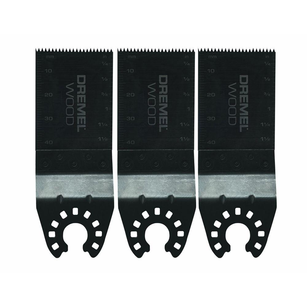 Dremel Mulit-Max Oscillating Tool Wood Flush Cut Blades for Wood, Plastic, Drywall, and Other Soft Materials (3-Pack)