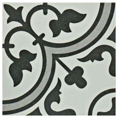 Arte Grey 9-3/4 in. x 9-3/4 in. Porcelain Floor and Wall Tile (10.76 sq. ft. / case)