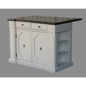 Internet #301025460. Home Styles Fiesta Weathered White Kitchen Island With Granite  Top