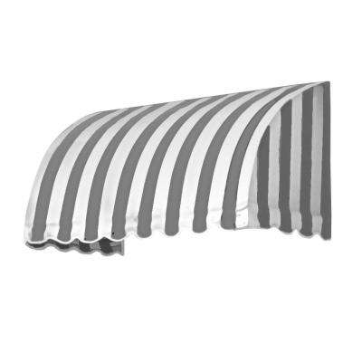 18 ft. Savannah Window/Entry Awning (44 in. H x 36 in. D) in Gray/White Stripe