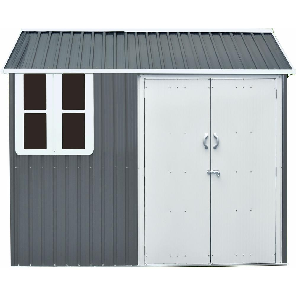 Hanover 6 ft. x 8 ft. x 7 ft. Galvanized Steel Nordic Storage Shed