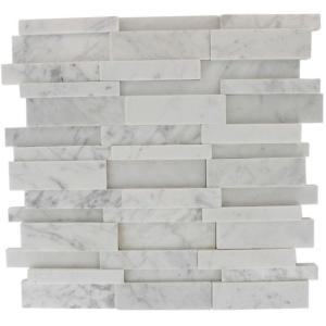 Splashback Tile Dimension 3d Brick White Carrera Stone 12