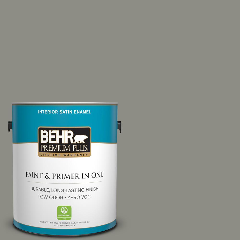 BEHR Premium Plus 1-gal. #N370-5 Incognito Satin Enamel Interior Paint