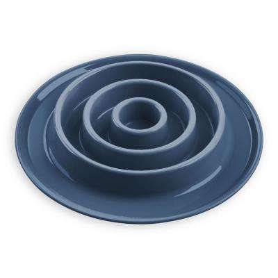 Slow Chow Concentric Circle Medium Feeder in Blue