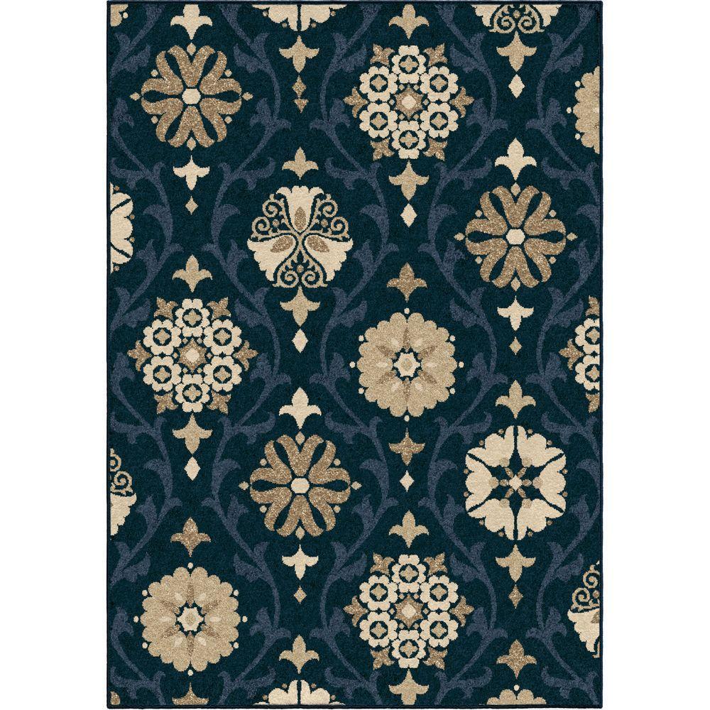Indio Blue 5 ft. 2 in. x 7 ft. 6 in. Indoor/Outdoor Area Rug