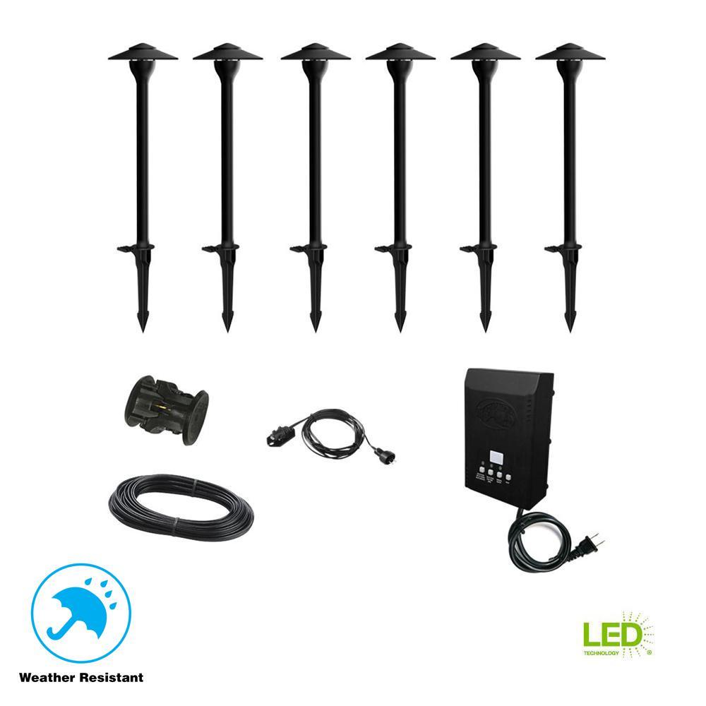 Hampton Bay Low Voltage Black Outdoor Integrated Led: Hampton Bay Low-Voltage 30-Watt Integrated LED Outdoor