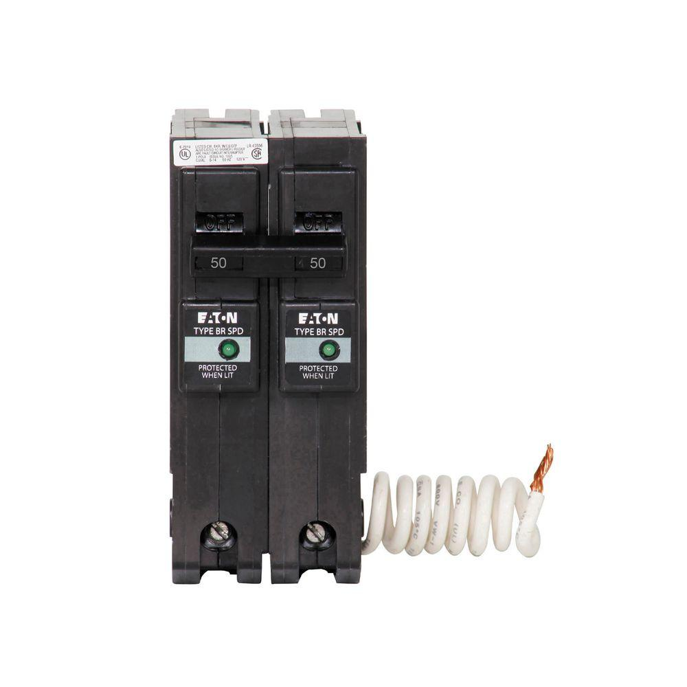 Siemens 100 Amp 2 Pole Type Bq 10 Ka Lug In Out Circuit Breaker Homeline 50 2pole Breakerhom250cp The Home Depot Br With Surge Protection