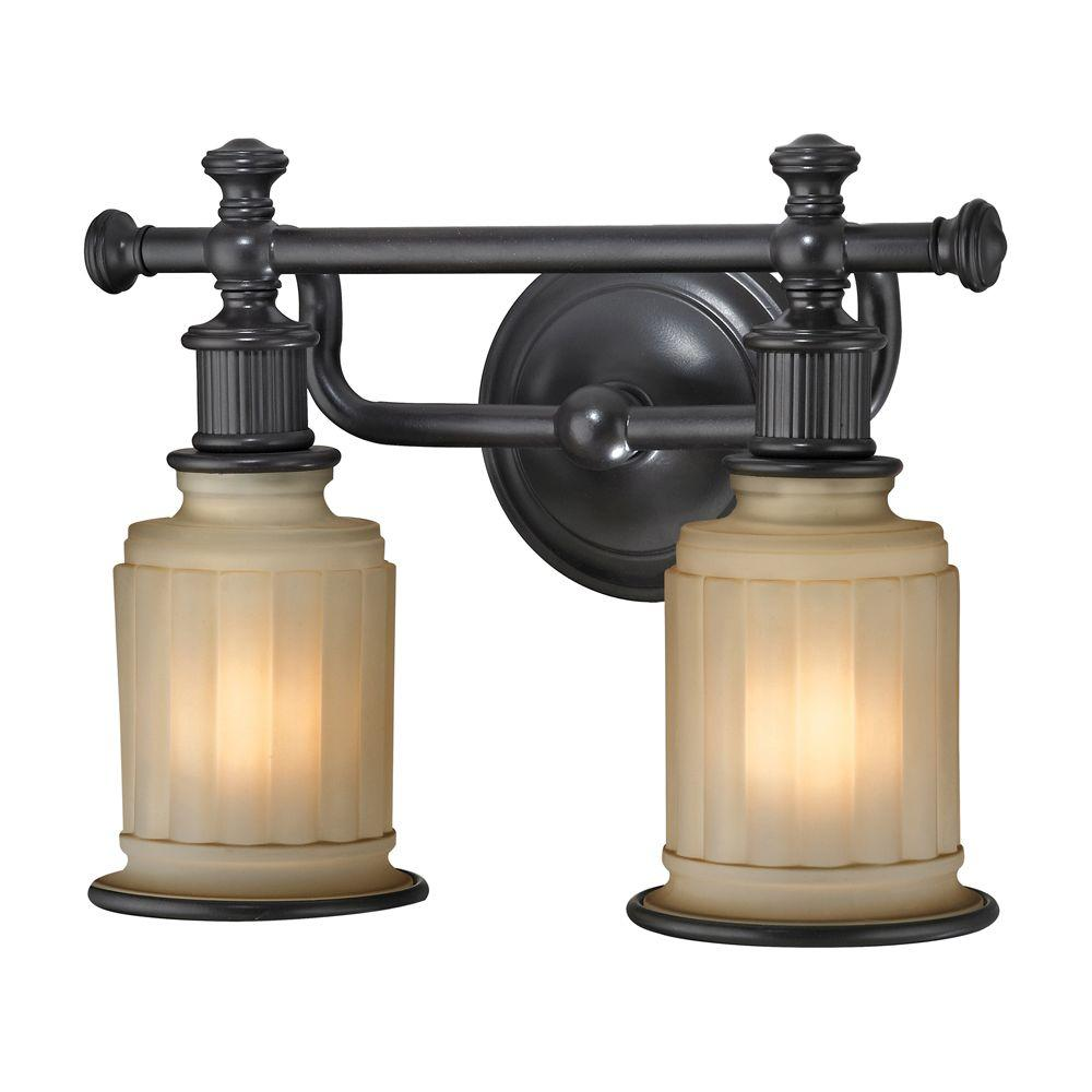 Titan Lighting Kildare 2-Light Oil Rubbed Bronze Bath Light-TN-31121 ...