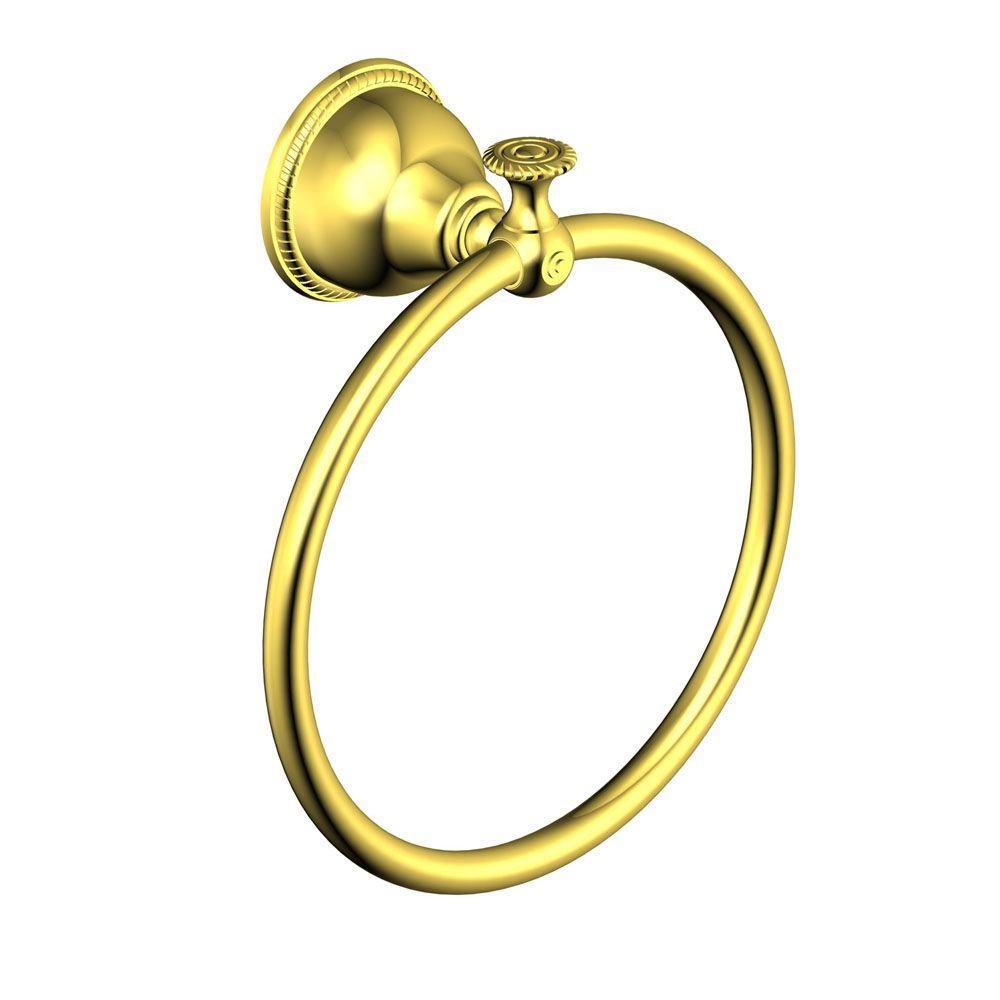 Pegasus 5000 Series Towel Ring in Polished Brass