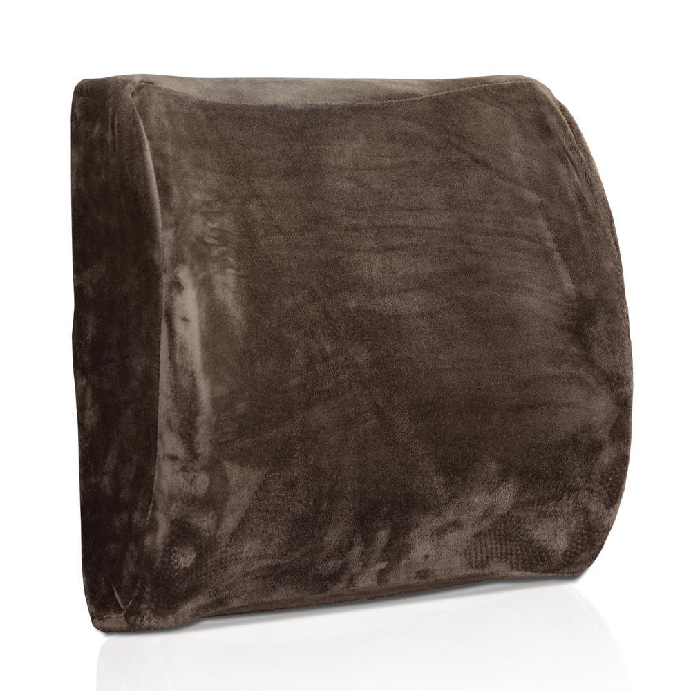Dark Brown Firm Memory Foam Lumbar Support Chair Pad