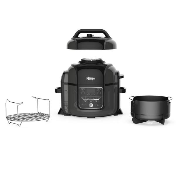 Foodi 1400 W Black Stainless Pressure Cooker with Tender Crisp Technology