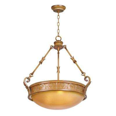 Brown beigebisque pendant lights lighting the home depot florentina 3 light amandale bowl pendant aloadofball