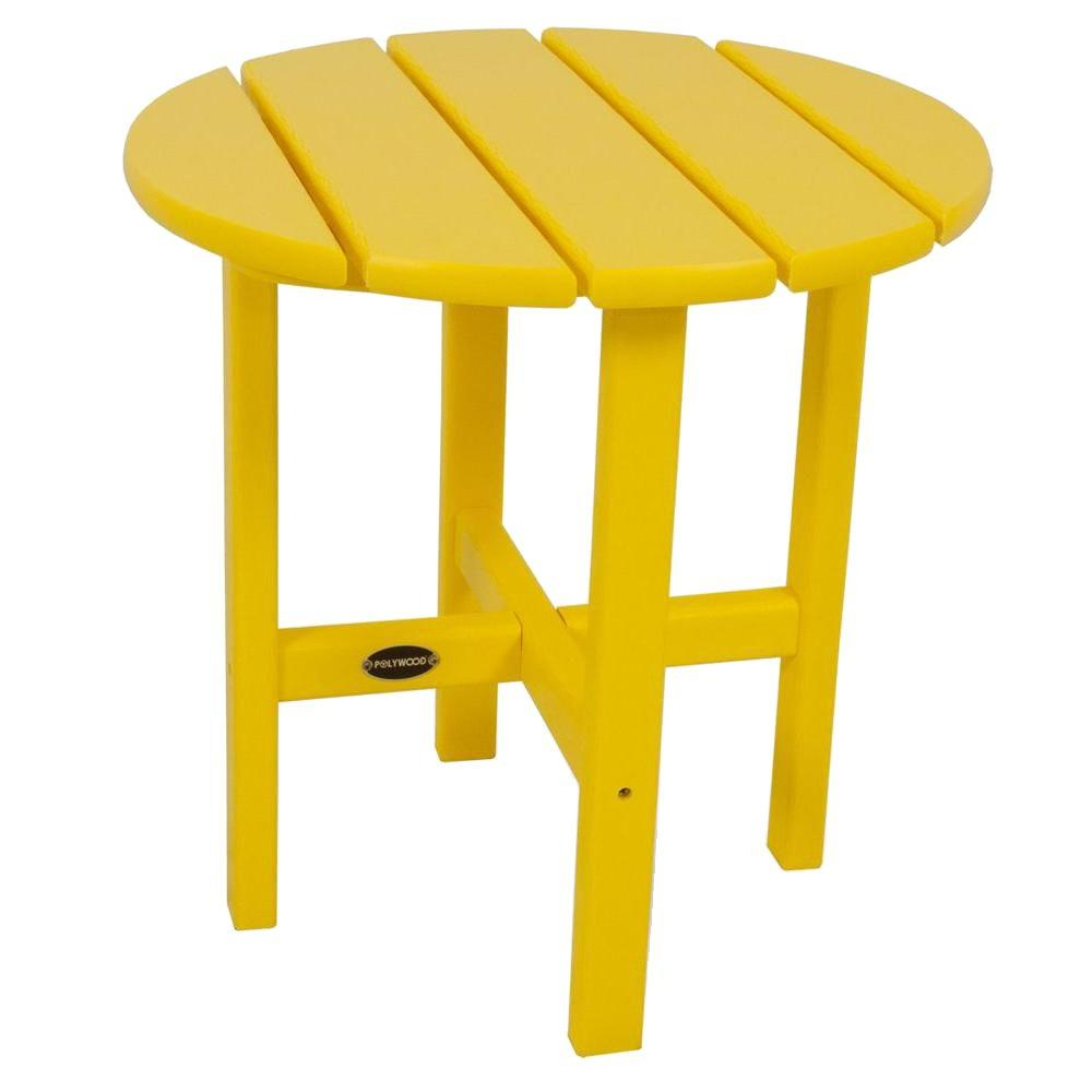 18 in. Lemon Round Patio Side Table