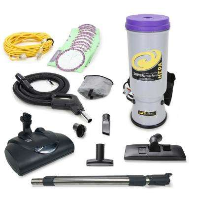 Super CoachVac Commercial Backpack Vacuum with Wessel Werk Head