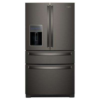36 in. 26 cu. ft. French Door Refrigerator in Fingerprint Resistant Black Stainless
