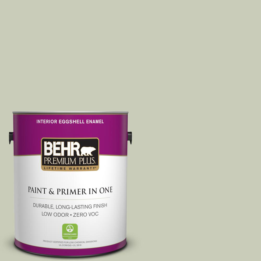 1-gal. #S380-2 Morning Zen Eggshell Enamel Interior Paint