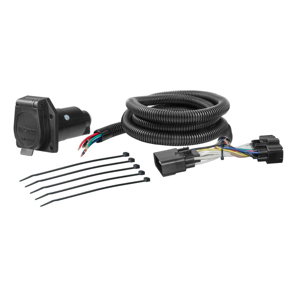 CURT Custom Wiring Harness (7-Way RV Blade Output) on 7 way trailer wiring, 12v rv wiring, 7 round trailer wiring,
