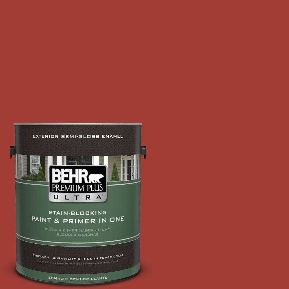 1 gal. #HDC-SM16-12 Tomato Slices Semi-Gloss Enamel Exterior Paint