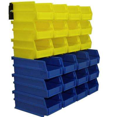 4-1/8 in. W Storage Bin in Yellow and Blue (26-Piece)