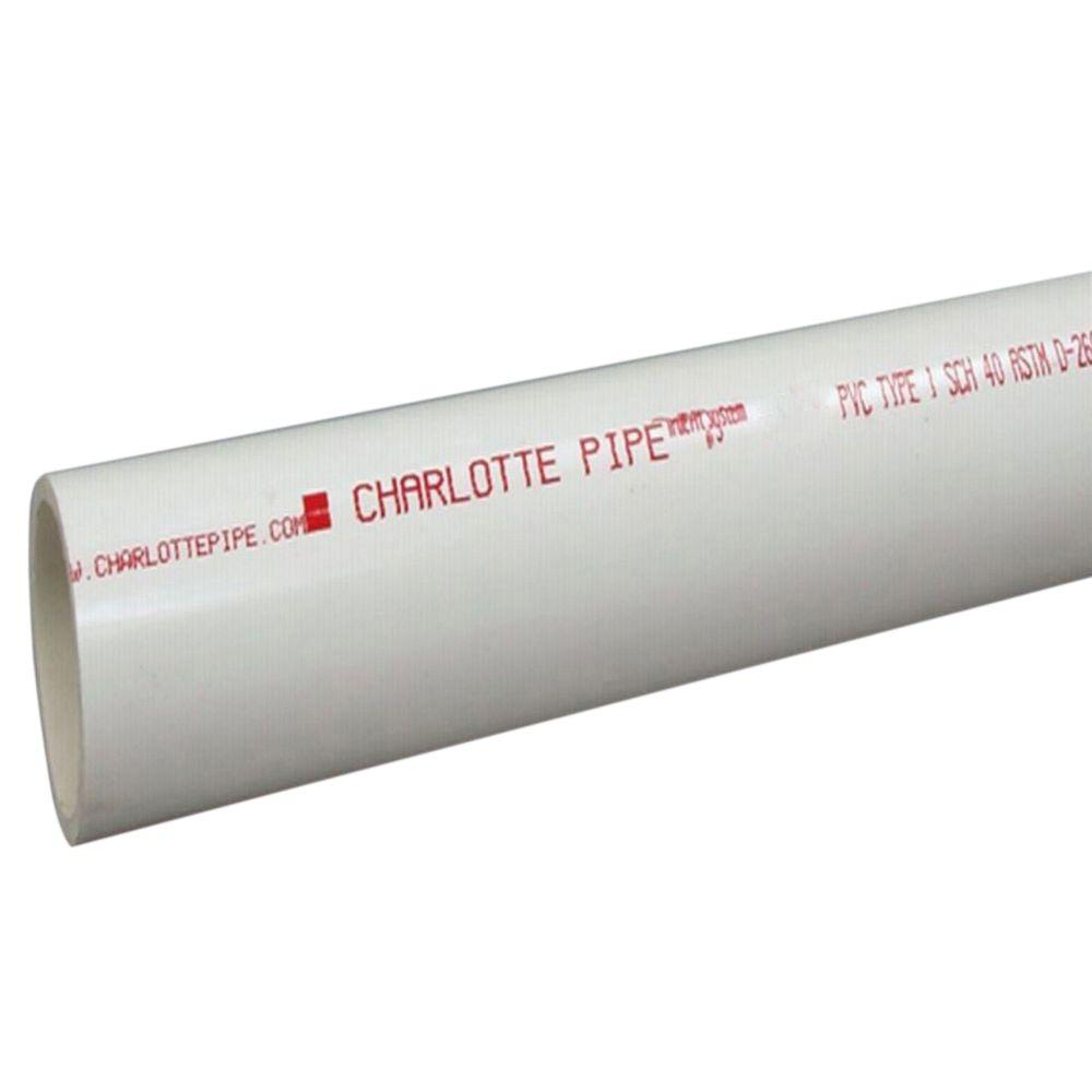 Charlotte Pipe 1-1/2 in. x 2 ft. PVC Sch. 40 Pipe