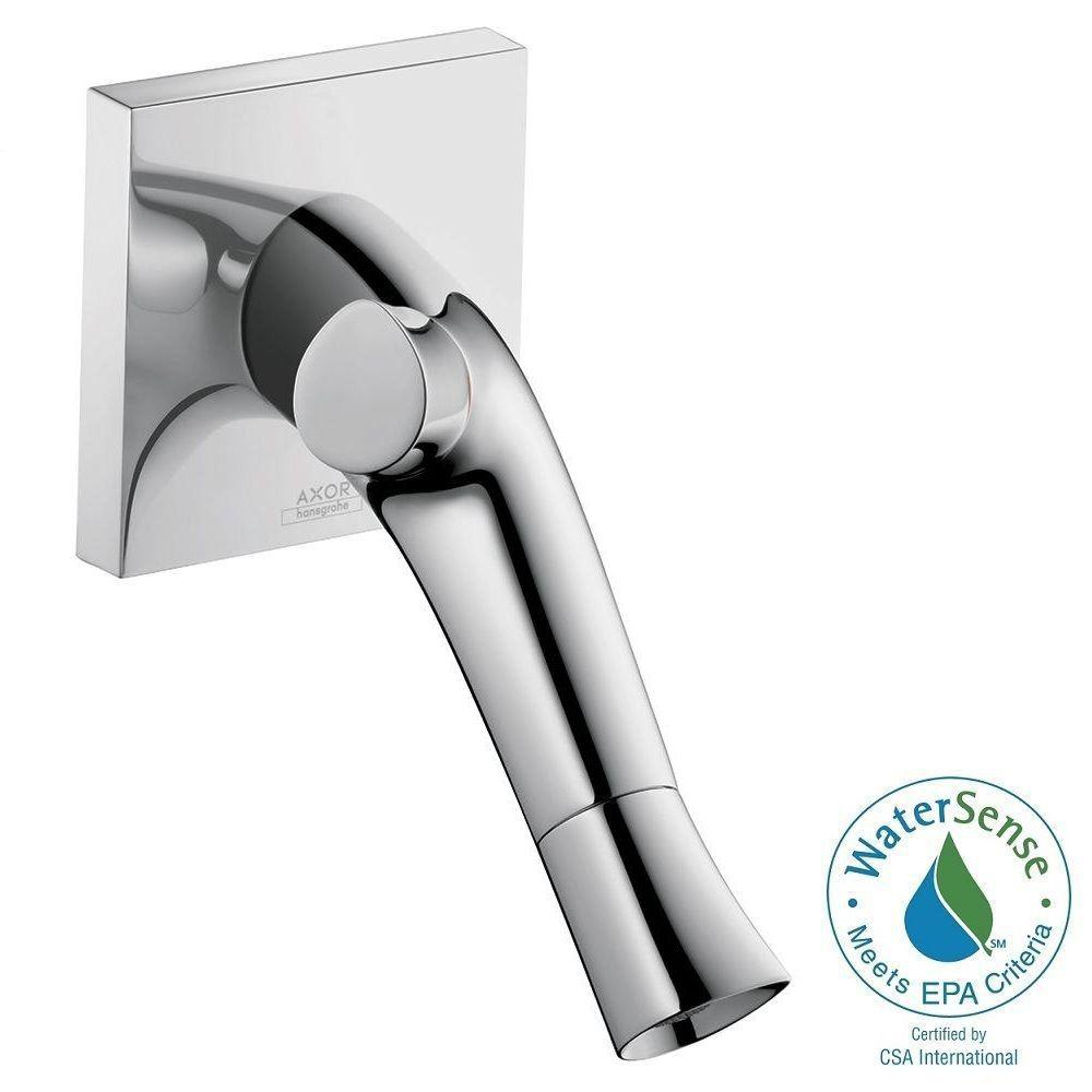 Hansgrohe Starck Organic Single-Handle Wall Mount Bathroom Faucet with Low-Arc in Chrome