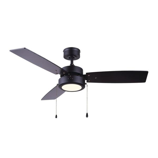 Integrated Led Black Ceiling Fan