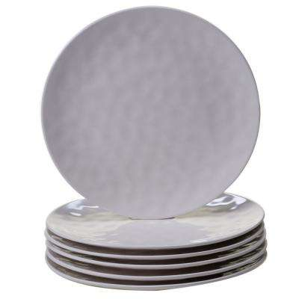 6-Piece Cream Dinner Plate Set