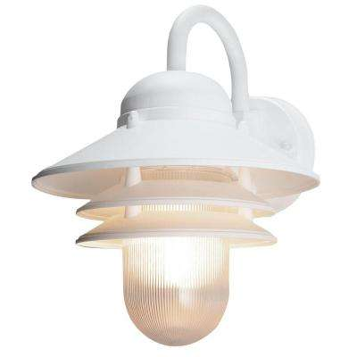 Marina White Outdoor Wall-Mount Lamp