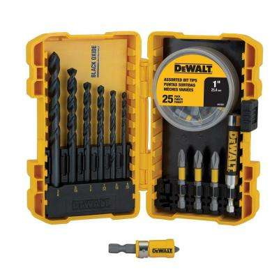 Black Oxide Screwdriving Drilling Set (40-Piece)