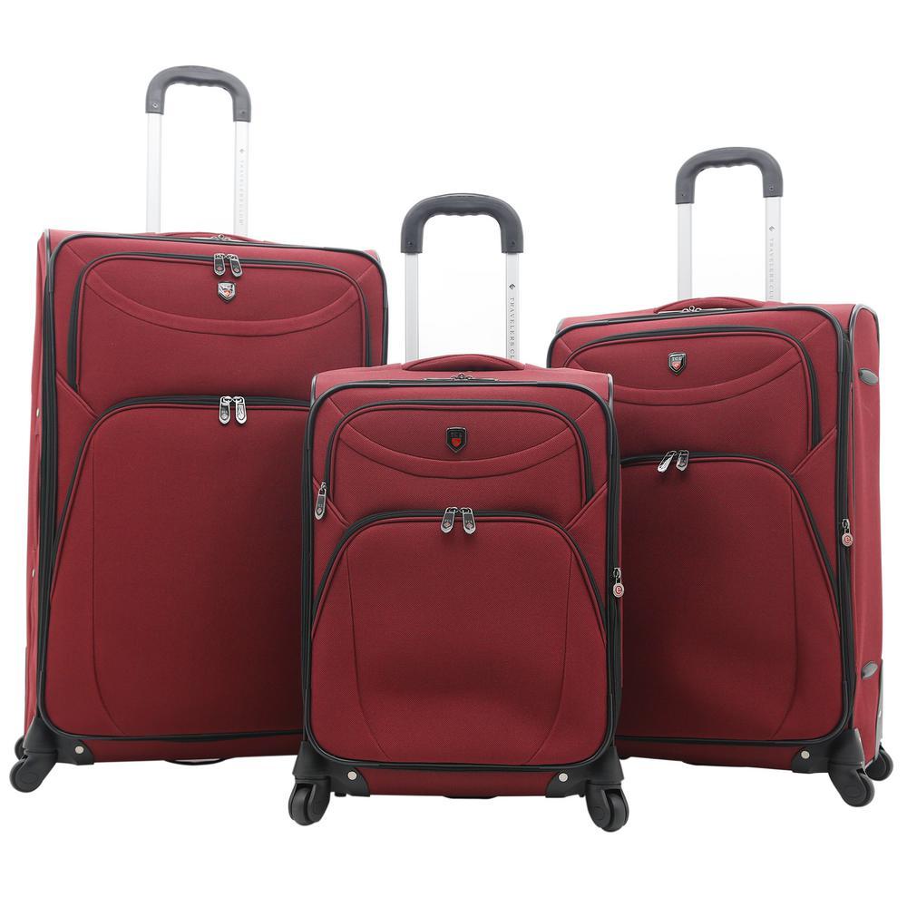 3-Piece EVA Expandable Vertical Luggage Set (D-Luxe)