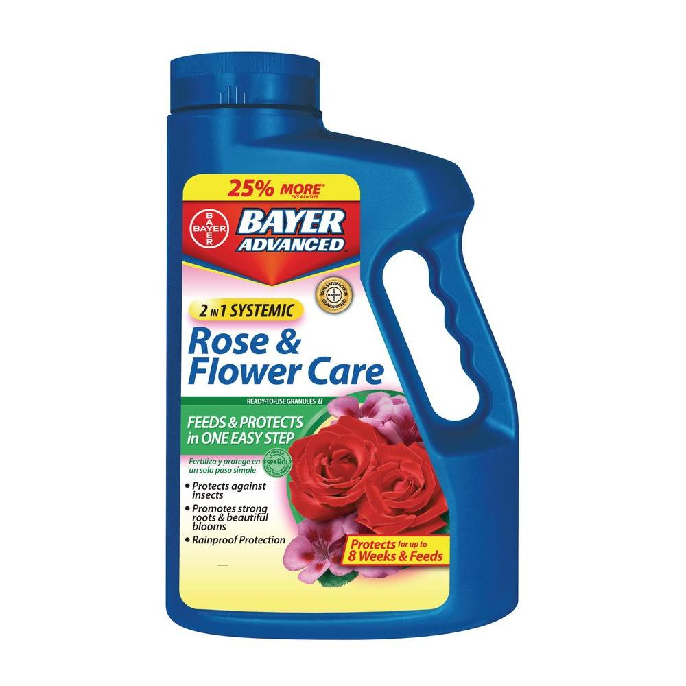 Bayer Advanced 5 lb. 2-in-1 Systemic Rose and Flower Care Ready-to-Use Granules