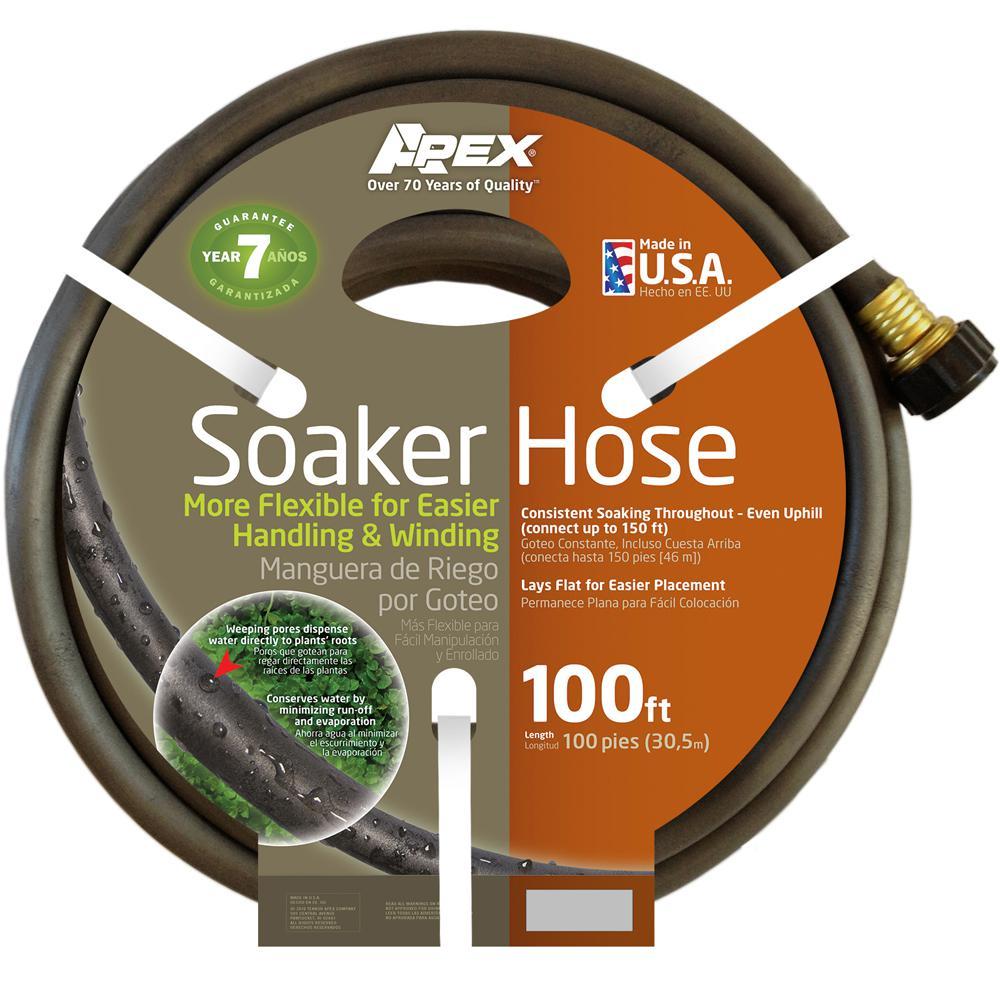 Apex 1/2 In. Dia X 100 Ft. Soaker Water Hose-1030 100