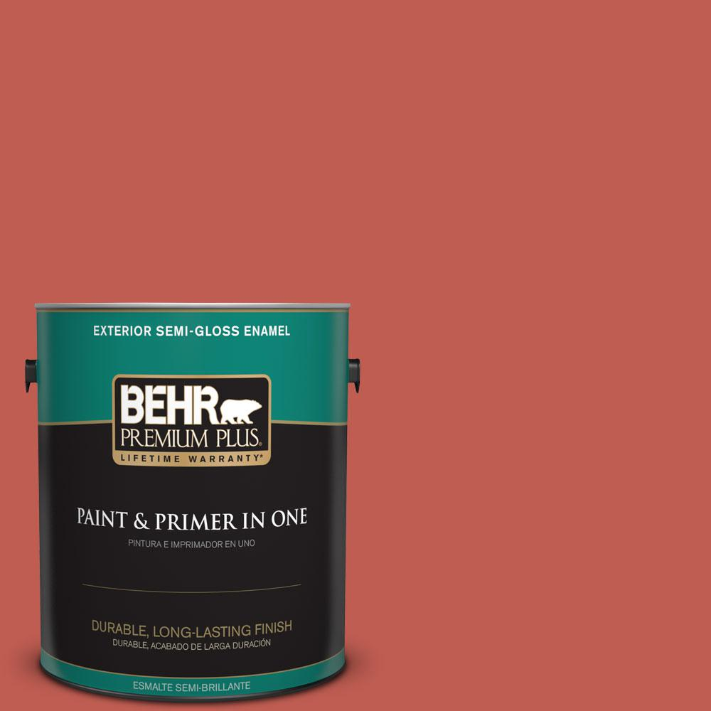 1-gal. #190D-6 Red Jalapeno Semi-Gloss Enamel Exterior Paint