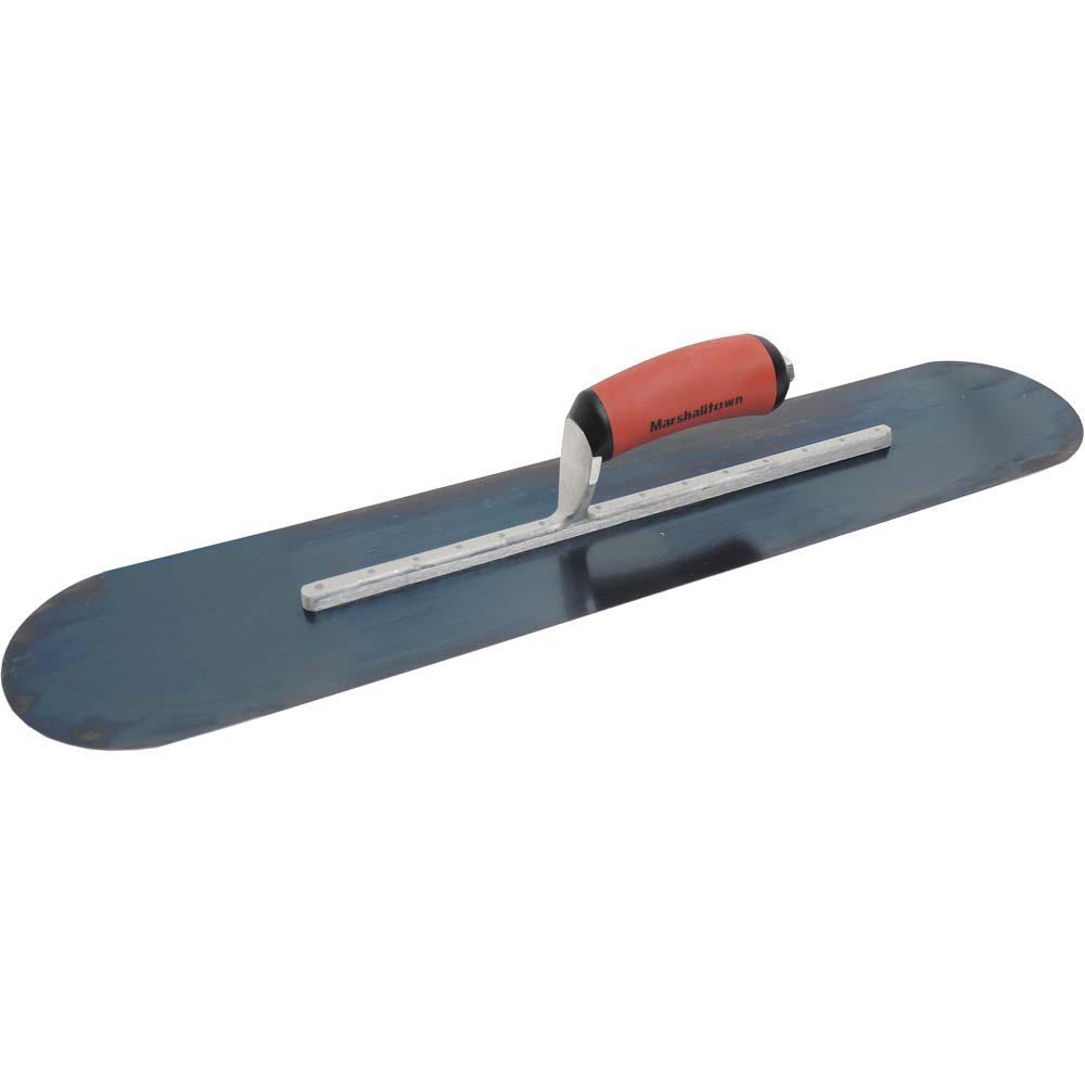 24 in. x 5 in. Blue Steel Pool Trowel - DuraSoft Handle