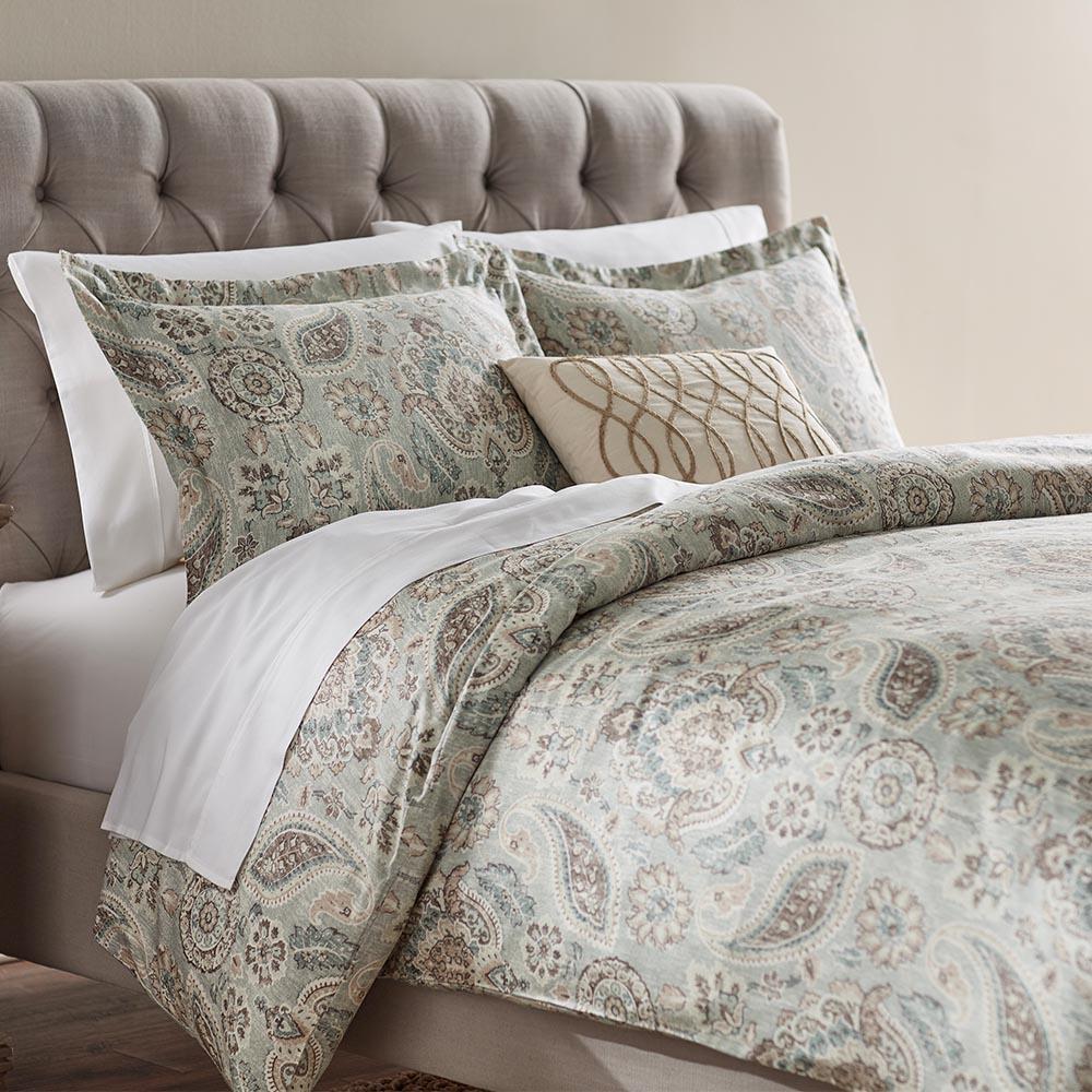 Home Decorators Collection Plazzo Geyser Queen Duvet
