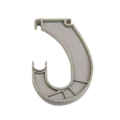 SuperSlide 6 in. x 1 in. Nickel Closet Rod Support Bracket