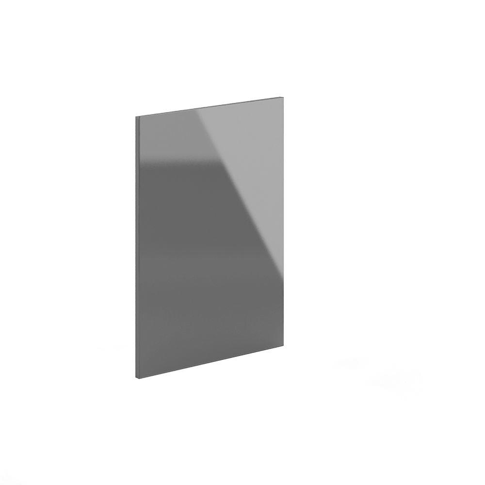 24x34.5x0.75 in. Dishwasher End Panel in High Gloss Gray Acrylic