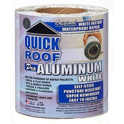 6 in. x 25 ft. Quick Roof Pro Aluminum Surface Tape in White