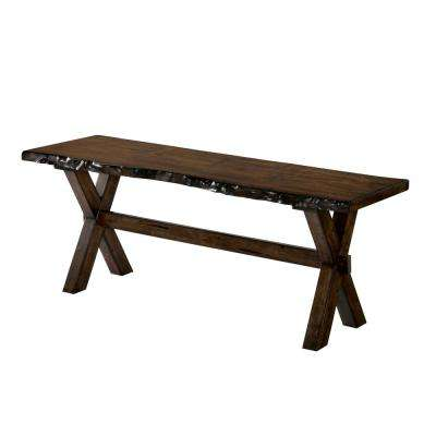 Justeen Walnut Wood Bench