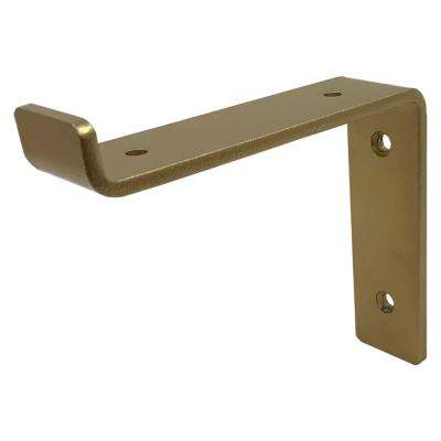 6 in. Gold Forged Steel Shelf Bracket