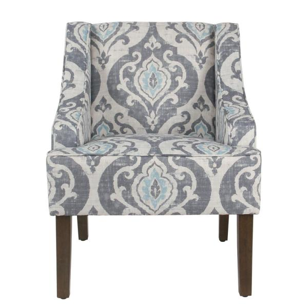Delicieux Global Damask Suri Blue Classic Swoop Accent Chair