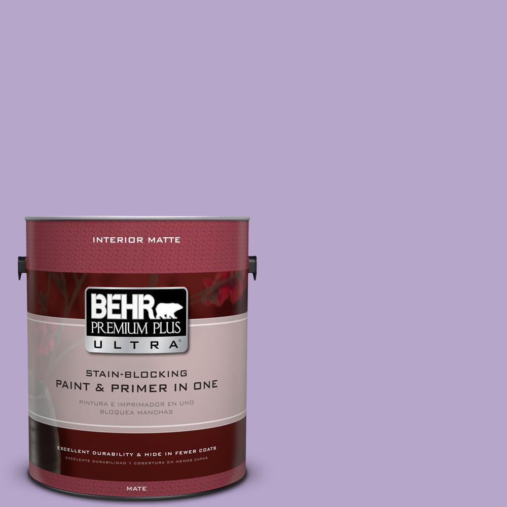 1 gal. #650B-4 Violet Fields Flat/Matte Interior Paint