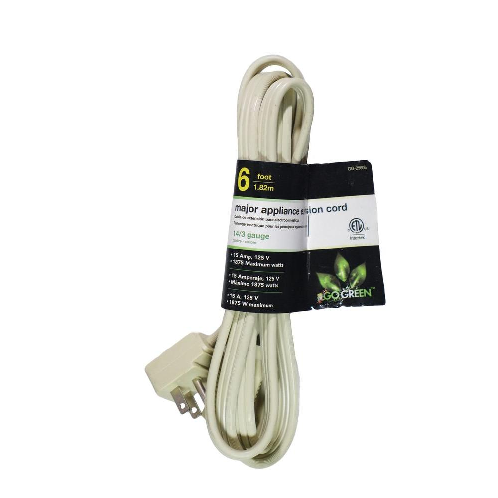 6 ft. 14/3 SPT A/C Extension Cord, Beige