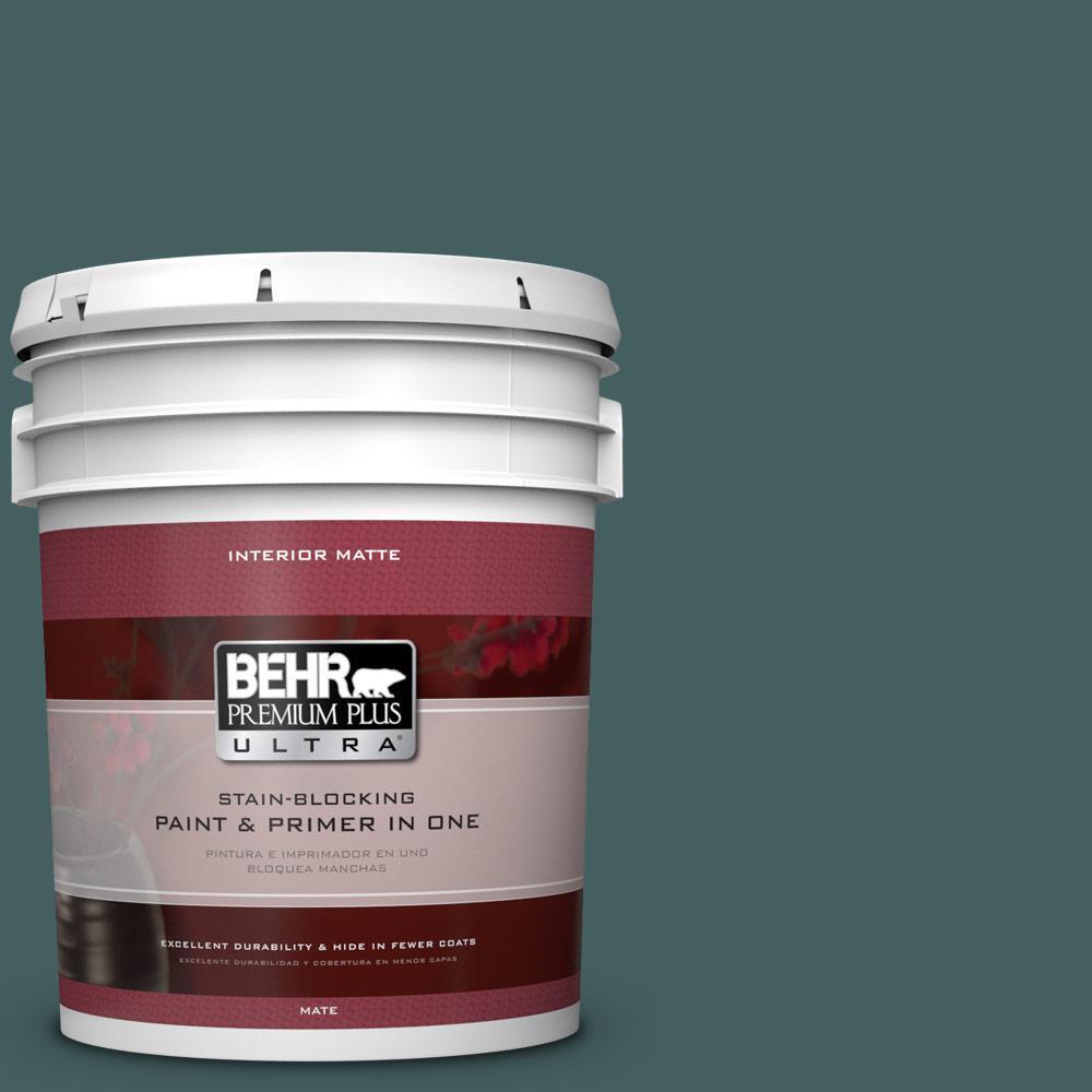 BEHR Premium Plus Ultra 5 gal. #BXC-15 Green Mallard Matte Interior Paint