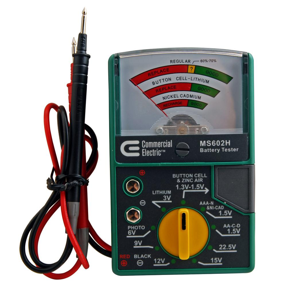 commercial electric electric battery tester ms602h the home depot