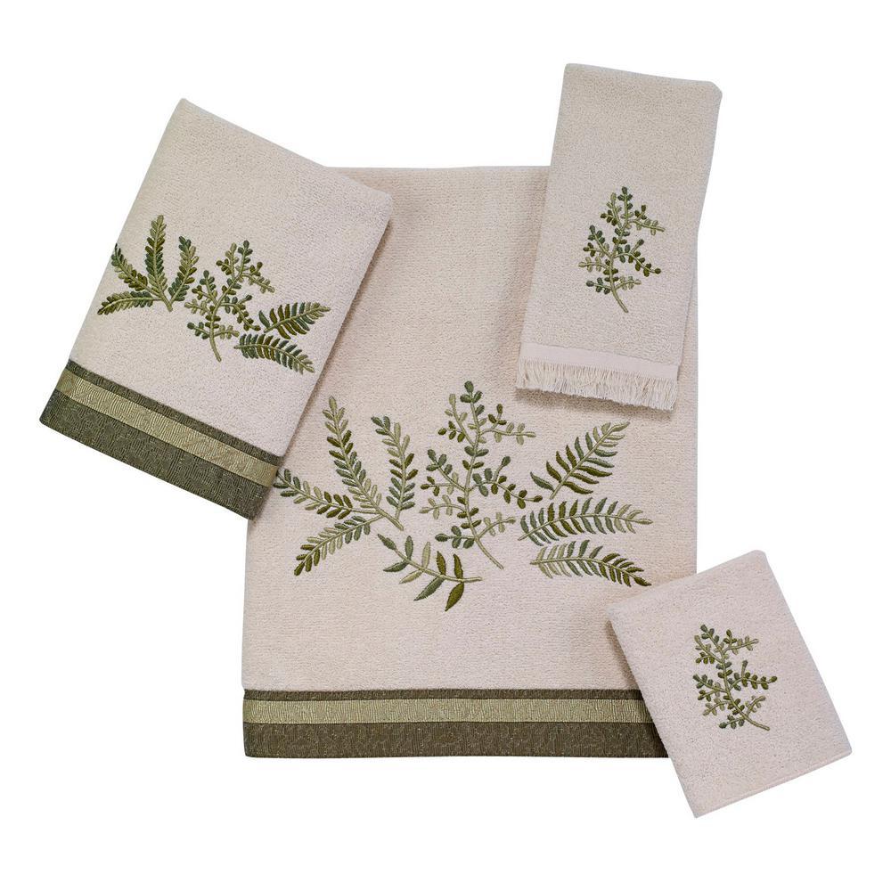 Greenwood 4-Piece Bath Towel Set in Ivory